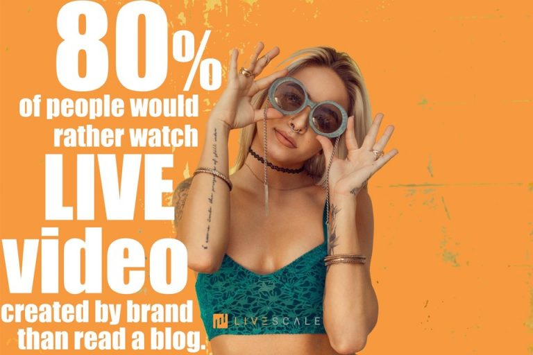 LIVE video gain more attention over blog post