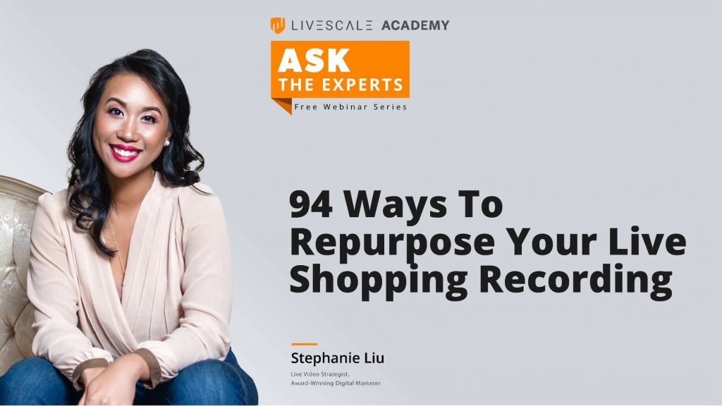 live-shopping-recording-repurpose-seo-social-media-stephanie